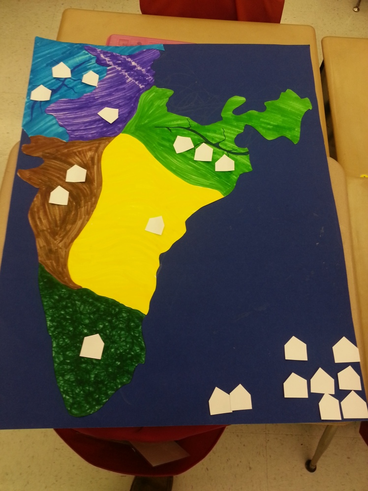 Our map of India with houses.